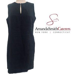 Amanda Smith New York Black Linen Dress Size 8P